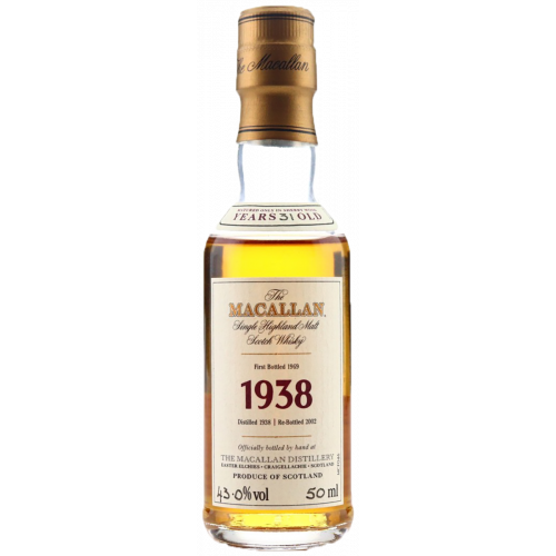 Macallan 1938 Fine & Rare 31 Year Old Miniature