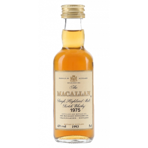 Macallan 1975 18 Years old Miniature